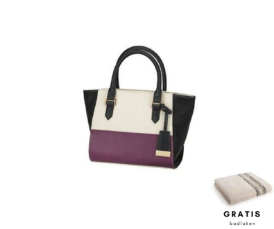 Dagknaller - Naomi Campbell Colour Block Tote Bag + Gratis Badlaken
