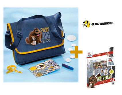 Dagknaller - Schoudertas Maken Secret Life Of Pets Totum + Gratis Sticker Set 45 Stickers