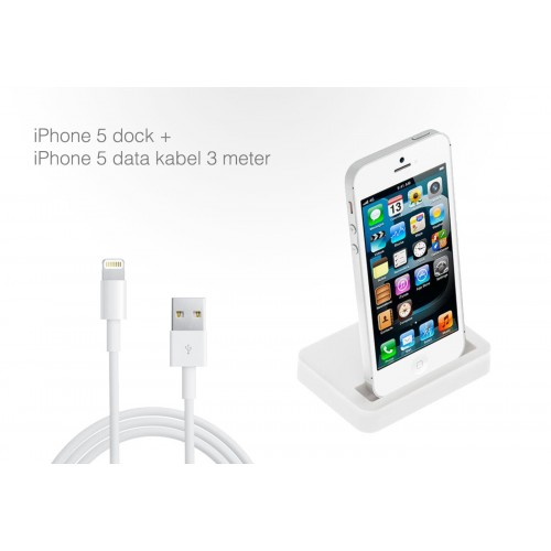 iphone 5 dock kabel 3 meter dagelijkse koopjes en internet aanbiedingen. Black Bedroom Furniture Sets. Home Design Ideas
