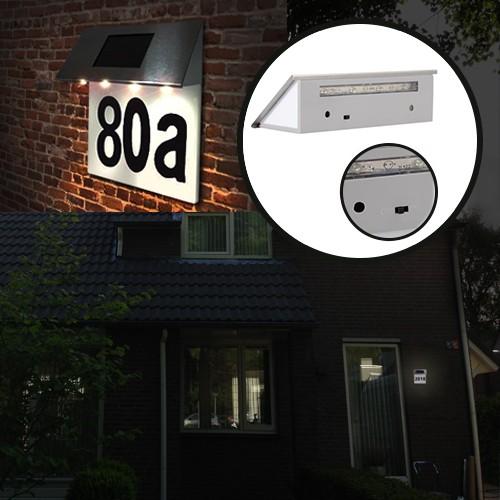 deal chimp rvs zonne energie huisnummer verlichting led