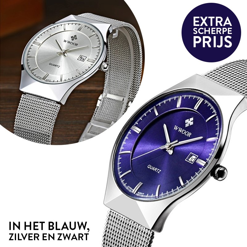 Deal Digger - Chique En Slank Rvs Horloge - Waterproof!