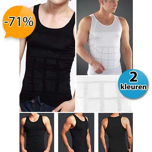 Deal Digger - Figuurcorrigerende Mens Body Shaping Ondershirt