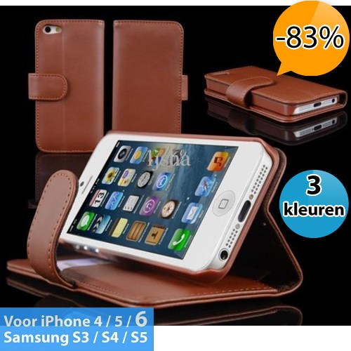 Deal Digger - Pu Lederen Smartphone Wallet Voor Iphone Of Samsung