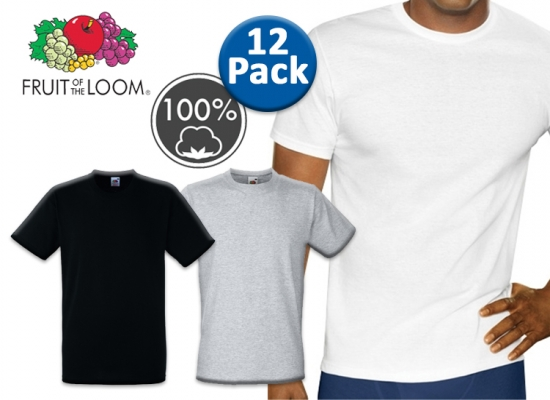 Deal Donkey - 12 Fruit Of The Loom T-Shirts