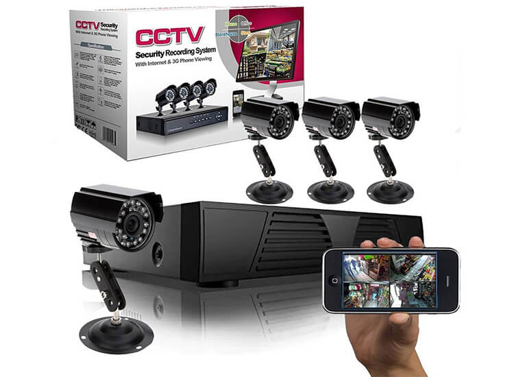 Deal Donkey - Cctv Video Bewakingssysteem Met 4 Camera's En Dvr