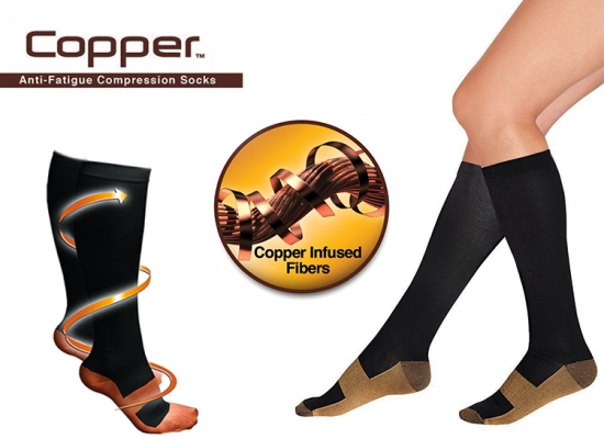 Deal Donkey - Copper Compressiesokken