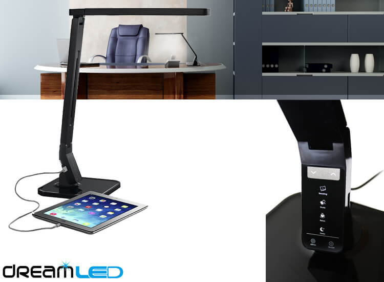 Deal Donkey - Dreamled Desk Sensor Led-Lamp - Met 4 Lichtstanden, Dimbaar En Usb-Ingang