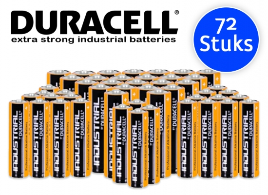 Deal Donkey - Duracell Industrial Batterijen - 72 Stuks - (Aa Of Aaa)