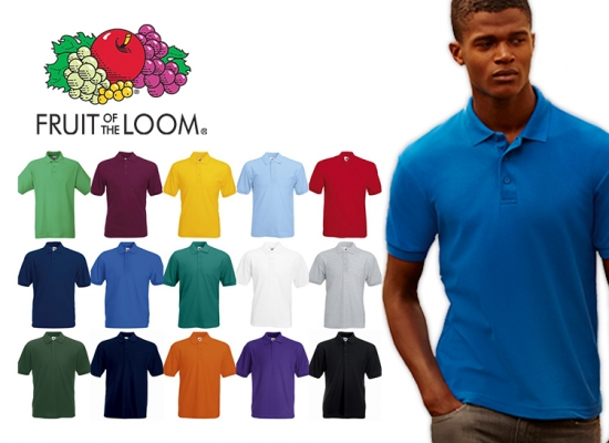 Deal Donkey - Fruit Of The Loom Heren Polo