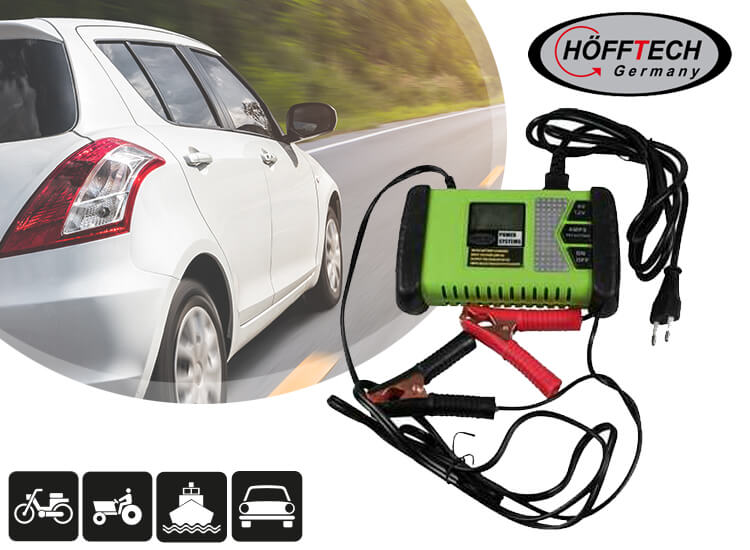 Deal Donkey - Höfftech Acculader 6/12 Volt - Met Lcd-Display
