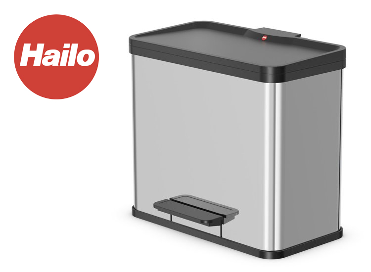 Deal Donkey - Hailo Öko Trio - 27L Plus Afvalemmer -Softclose - Rvs