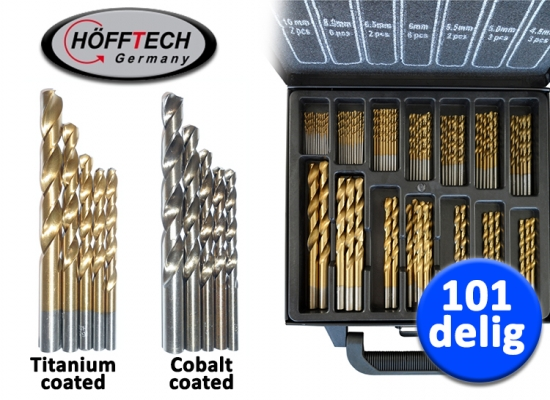 Deal Donkey - Hofftech 101-Delige Borenset (Titanium Of Cobalt Coating)