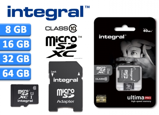 Deal Donkey - Integral Micro Sd Kaart Class 10 (8,16, 32 Of 64 Gb)