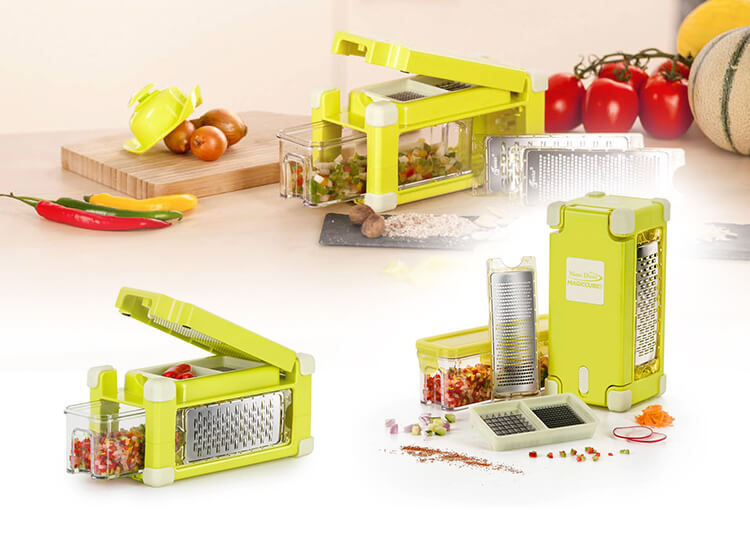 Deal Donkey - Nicer Dicer Magic Cube Gourmet Yellow 9 Delig