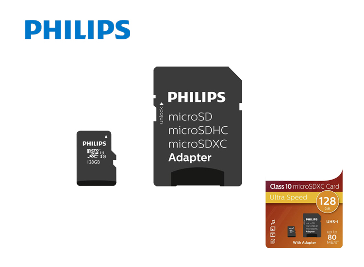 Deal Donkey - Philips Micro Sdxc 128Gb Uhs-1 U1 Met Adapter