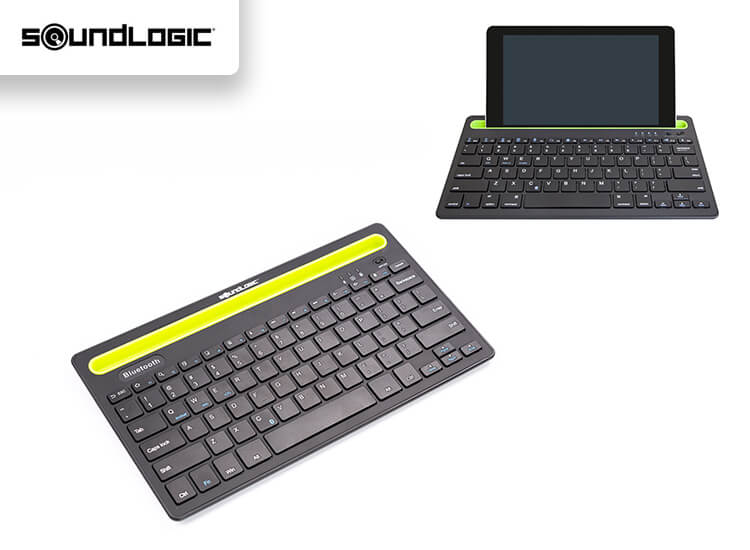 Deal Donkey - Soundlogic Draadloos Toetsenbord - Bluetooth - Gleuf Voor Smartphone Of Tablet