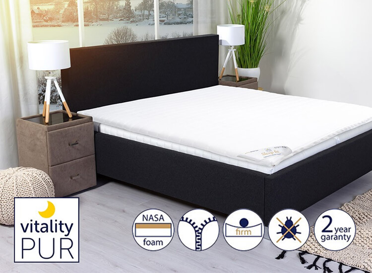 Deal Donkey - Vitality Pur Traagschuim Topdekmatras