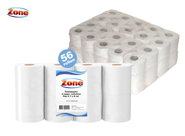 Deal Donkey - Zone Toiletpapier - 56 Rollen - 3 Laags Wc Papier