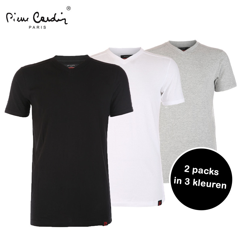 Elke dag iets leuks - Pierre Cardin 2 Pack Basic T-Shirts
