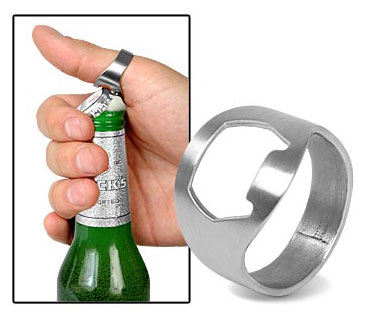 Gadgetknaller - Ring Bieropener