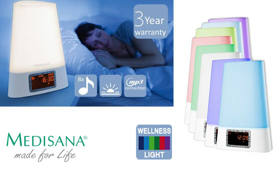 Group Actie - € 39,95 Ipv € 79,95 - Medisana Wake-up Light Met Wellness Light