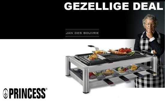 Group Actie - €49,95 - Princess Let's Cook Combi Chef 8 Persoons. Grill, Raclette-/gourmetset En Barbecue (Waarde €149)