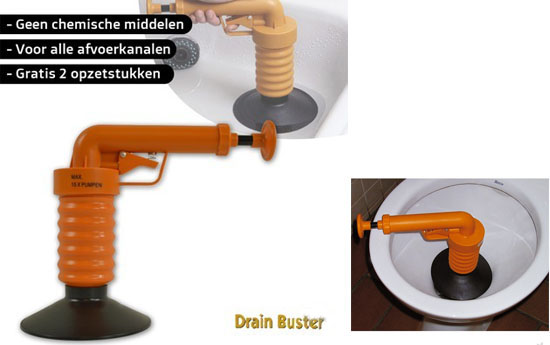 Group Actie - Drain Buster Ontstopper
