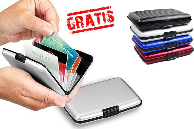 bff16613d97 Group Actie - Gratis - Aluminium Card Houder! Berg Al Uw Pasjes En Briefgeld  Gemakkelijk