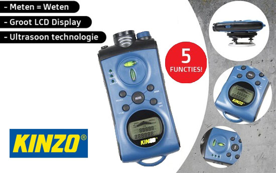 Group Actie - Kinzo Ultrasoon Meetinstrument 5 In1