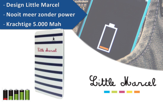 Group Actie - Little Marcel Powerbank
