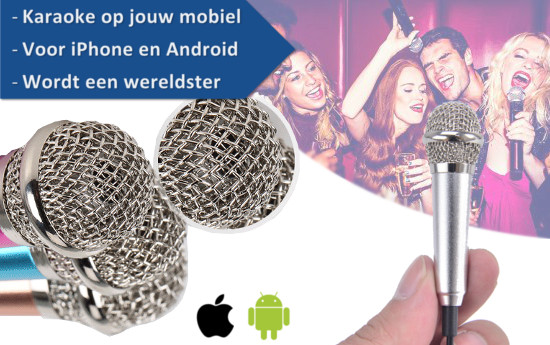 Group Actie - Smartphone Karaoke Set