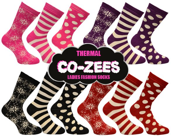 Groupdeal - 12-pack Co-Zees Thermosokken