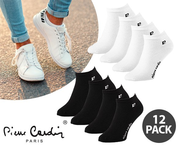 Groupdeal - 12-Pack Pierre Cardin Sneakersokken