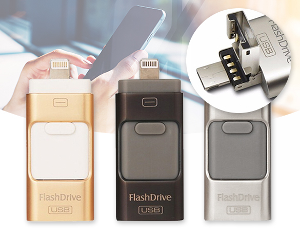 Groupdeal - 3-in-1 Flash Drive