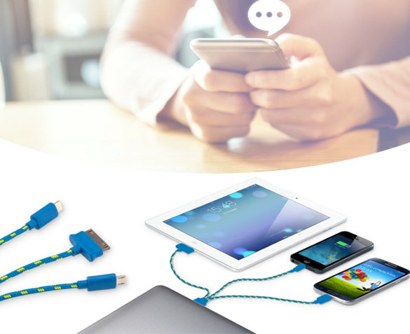 Groupdeal - 3-in-1 Usb-kabel