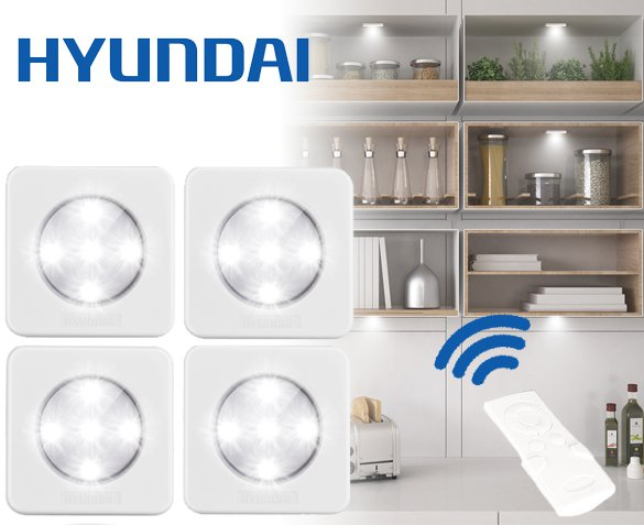 Groupdeal - 4-Pack Hyundai Led-spots
