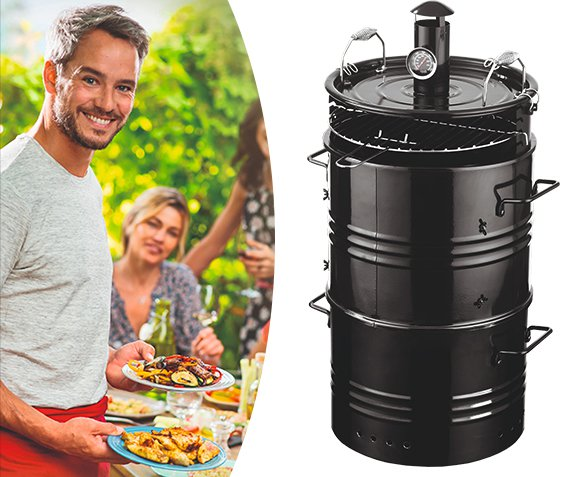 Groupdeal - 5-in-1 BBQ Smoker
