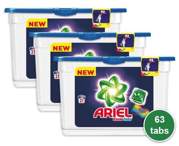 Groupdeal - 63-Pack Ariel Tabs