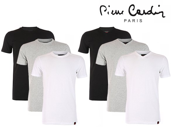Groupdeal - 6-Pack Pierre Cardin T-shirts