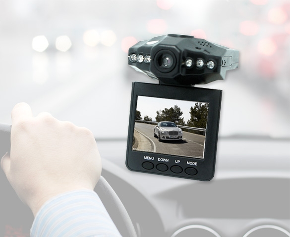 Groupdeal - Dashcam HD 720p LCD Light Vision