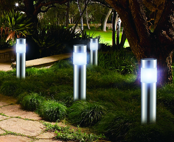 Groupdeal - LED RVS Tuinlampen