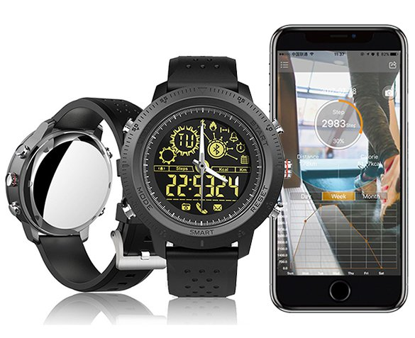 Groupdeal - TacWatch 500 Militaire Smartwatch