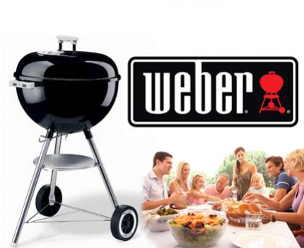 weber barbecue compact grill 47cm zwart barbecue van het enige echte barbecuemerk weber. Black Bedroom Furniture Sets. Home Design Ideas