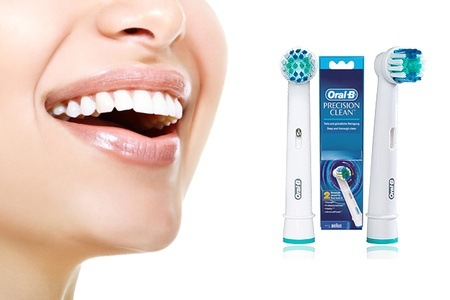 Groupon - 10, 15 of 20 Oral-B opzetborstels Precision Clean Flexisoft (gratis bezorgd)