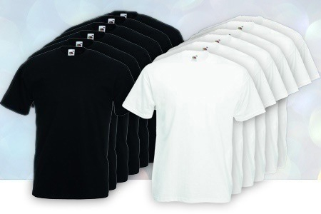Groupon - 12 of 24 Fruit of the Loom T-shirts (vanaf € 30, gratis bezorgd)