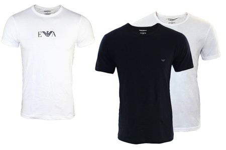 Groupon - 2 of 3 Armani T-shirts