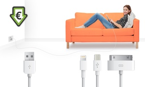 Groupon - Micro-Usb En Apple Kabels 1 Of 3 M
