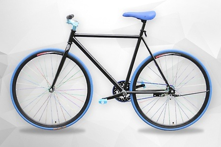 Groupon - Single speed fiets rood of blauw