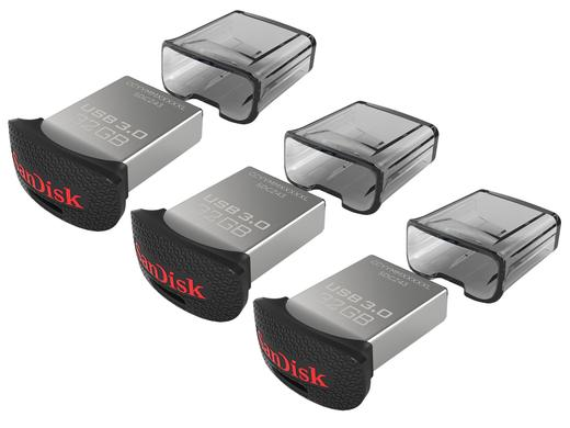 iBood - 3x Sandisk USB3.0 Flash Drives 32GB