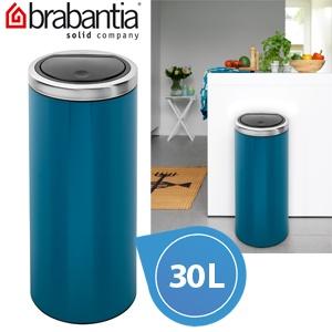 Brabantia Touch Bin Afvalverzamelaar 30 Liter.Afvalverzamelaar 30 Liter Flat Top Touch Bin Met Kunststof